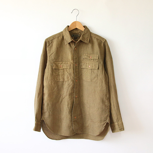 MEN BRITISH ARMY LINEN SHIRT