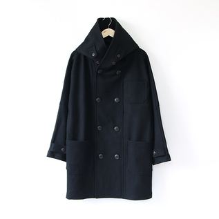 FISHERMAN LONG COAT BLACK