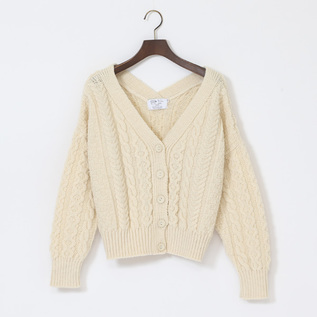 Aran Cable 2Way V Cardigan