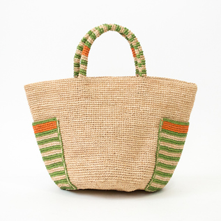 BUCKET RAFFIA BAG
