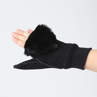 2WAY sheepskin mittens
