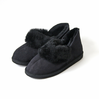 Sheepskin Mouton ankle boots black