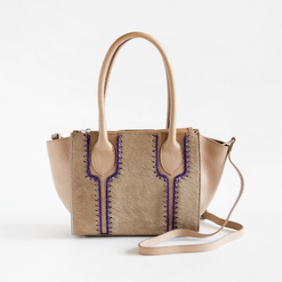 BESPOKE HANDSTITCH HAIRCALF BAG CAPPUCCINO