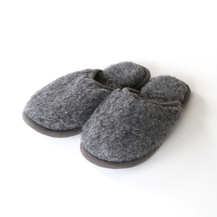MERINO WOOL SLIPPERS GREY