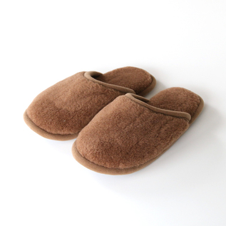 CAMEL WOOL SLIPPERS BRONZE
