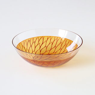 MUM FLOWER GLASS BOWL
