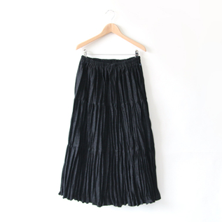 Wool Tiered Skirt