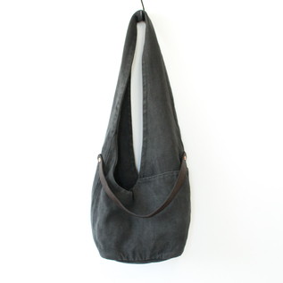 BESPOKE LINEN LEATHER SHOULDER BAG  GULUTO