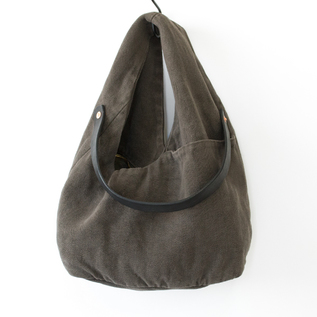 BESPOKE LINEN LEATHER SHOULDER BAG  HYUTTE