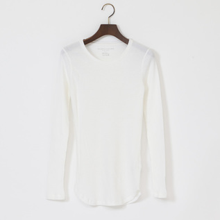 COTTON CASHMERE LIB LONG SLEEVE