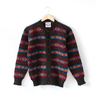 CREW CARDIGAN / BORDEAUX