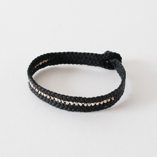 SHEEP LEATHER BRACELET  CARRIL PLATA