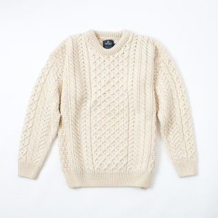 MERINO WOOL CABLE SWEATER