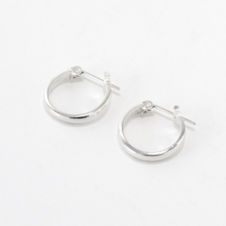 ピアス STUDEBAKER MINI LODGE HOOPS POLISHED