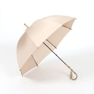 LADIES LONG UMBRELLA  BEIGE