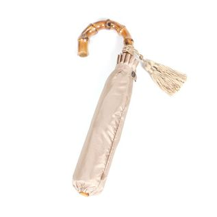 LADIES FOLDING UMBRELLA BEIGE