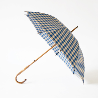 LADIES ALL-WEATHER LONG UMBRELLA GINGHAM CHECK