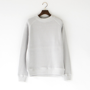UNISEX WAFFLE MIDNECK STEEL SILVER