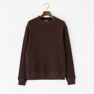 ユニセックス WAFFLE MIDNECK GROUND BROWN