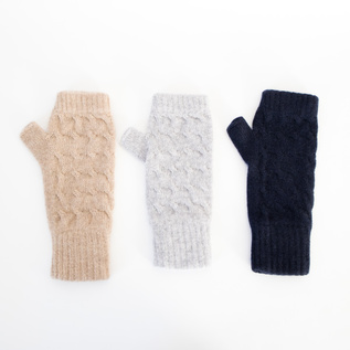 2Ply Cashmera Cable Wrist warmers