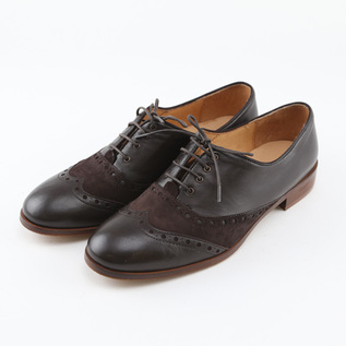 WINGTIP SHOES BETTA DARK BROWN