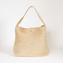 LOTO NATURAL RAFFIA SHOULDER BAG