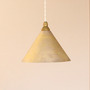 Casting surface pendant lamp cone