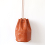 HORSE LEATHER DRAW STRINGS POUCH M