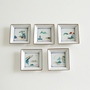 Small square plates set of 5