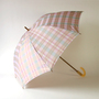 Check jacquard rain or shine combined parasolPpink