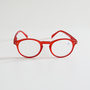 READING GLASSES A RED CRYSTAL