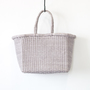 Leather mesh tote Small Grey