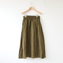 LINEN SWING SKIRT MILITARY GREEN
