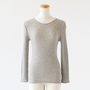 COTTON WOOL CIRCULAR KNITTING CREW NECK LONG SLEEVES