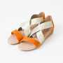 ELASTIC ESPADRILLE SANDAL ORANGE