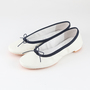 TRAVEL SHOES WATERPROOF BALLET FLATS WHITE AND NAVY