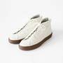 TRAVEL SHOES WOMENS HIGH CUT SNEAKERS WHITE CAMAL