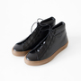TRAVEL SHOES WOMENS HIGH CUT SNEAKERS BLACK CAMAL