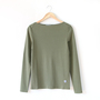 Women Solid color boat neck L S