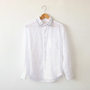 Linen embroidered shirt white
