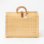 REED BASKET BAG L BEIGE