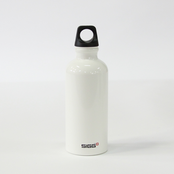 SIGG Bottle Traveler White 0.4L black cap