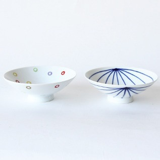 PAIR OF SHALLOW RICE BOWLS AB-10 ST-15