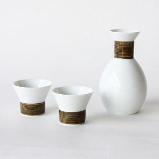Sake cup set Asanoito pattern