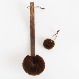Scrubbing palm bath brush set round
