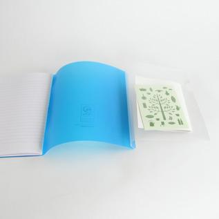 内側にファイルがついていて便利なノート