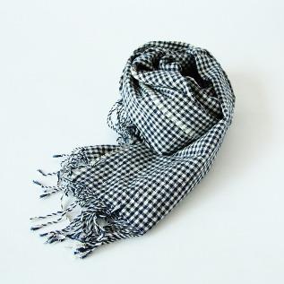 かすり スカーフ ギンガムチェック