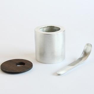 シュガーポット(L)、蓋、付属のスプーン