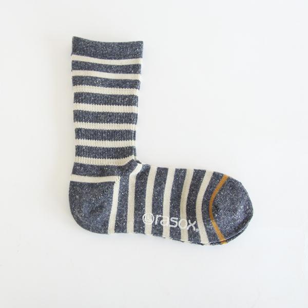 Men Cotton Border Crew Socks