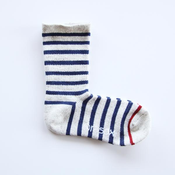Women Cotton Border Crew Socks